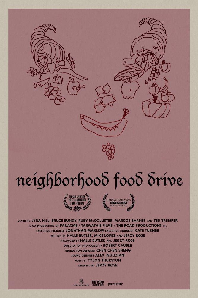 Poster for Neighborhood Food Drive