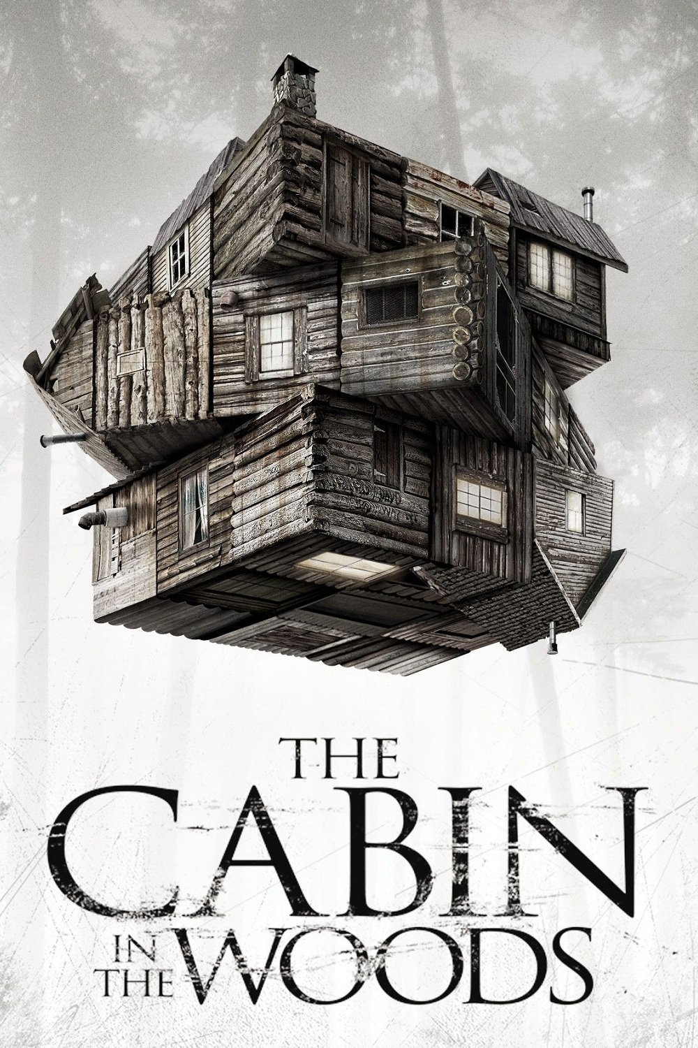 Poster for The Cabin in the Woods (Lovecraft t-shirt giveaway from Out of Print.)