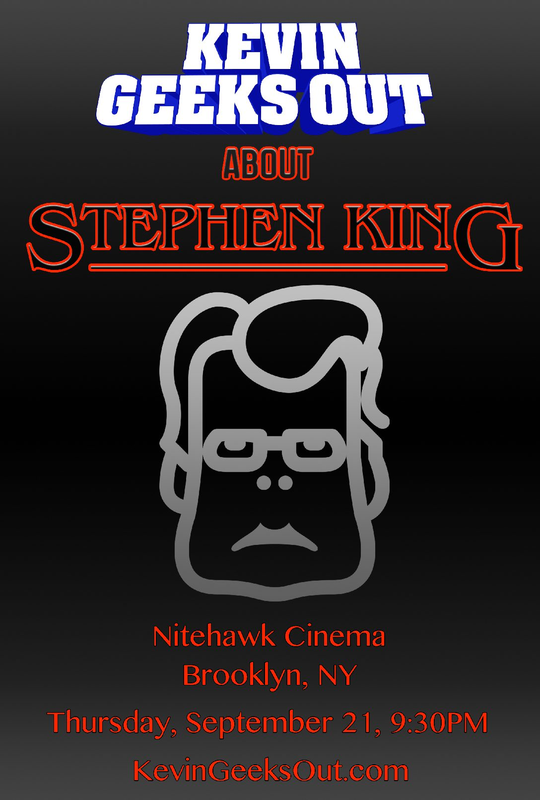 Poster for KEVIN GEEKS OUT ABOUT STEPHEN KING vol. 2