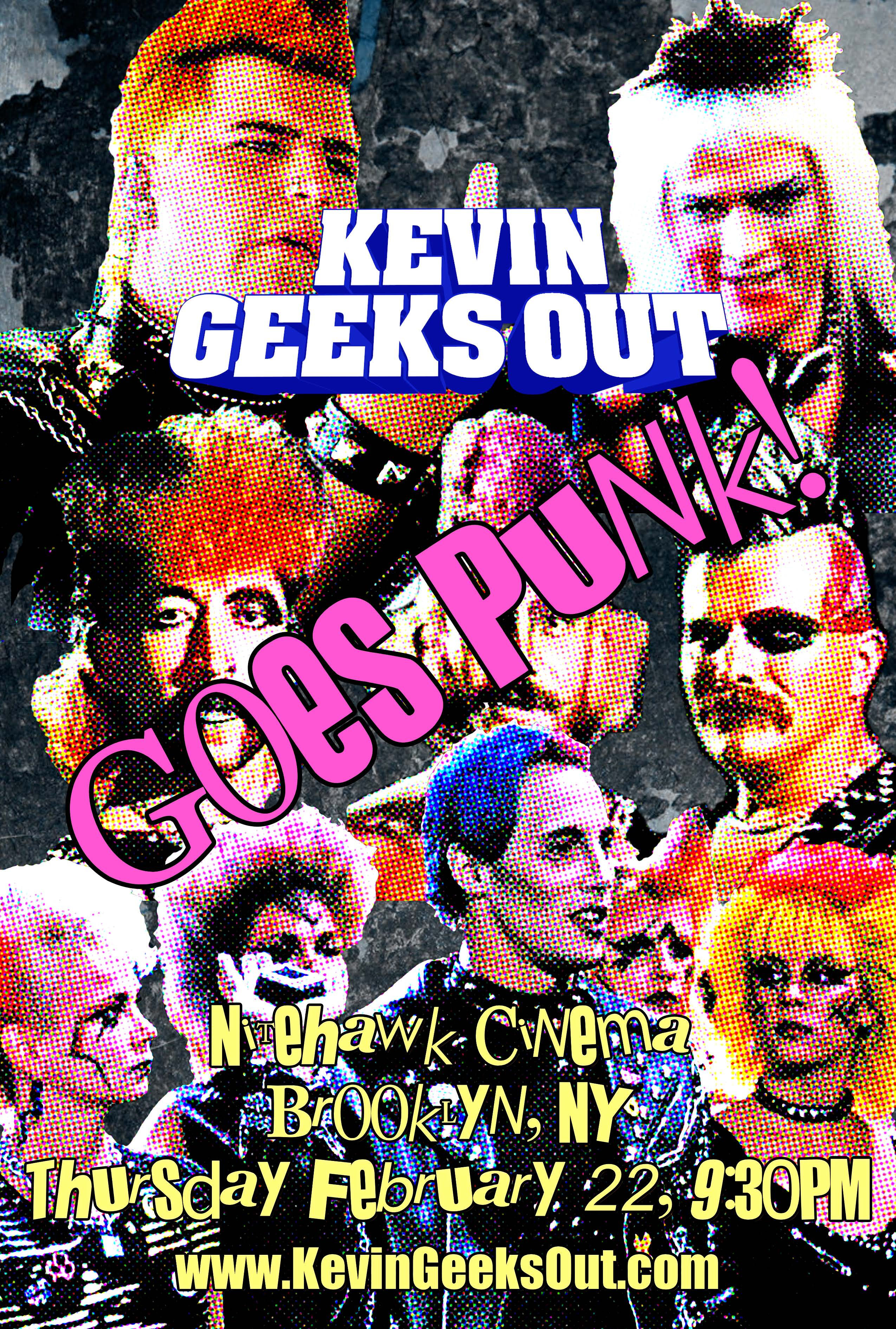 Poster for Kevin Geeks Out Goes Punk!