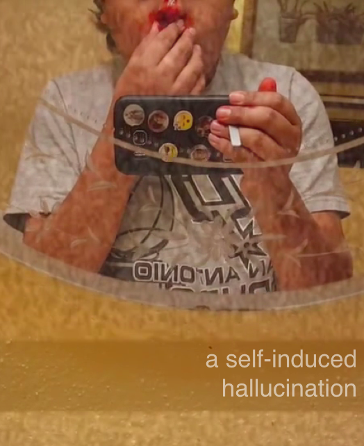 """Poster for THE EYESLICER PRESENTS: """"A SELF-INDUCED HALLUCINATION"""""""