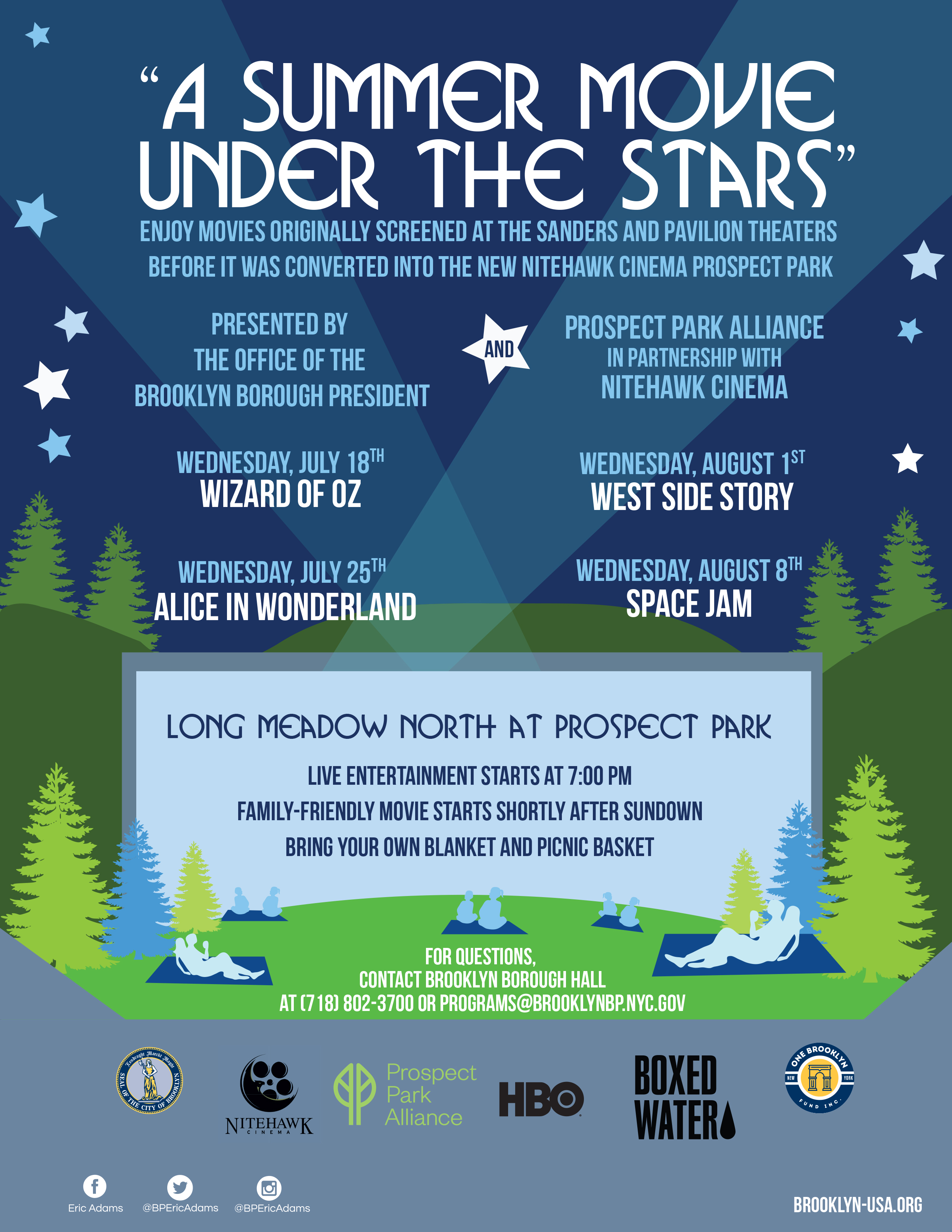 Poster for A SUMMER MOVIE UNDER THE STARS
