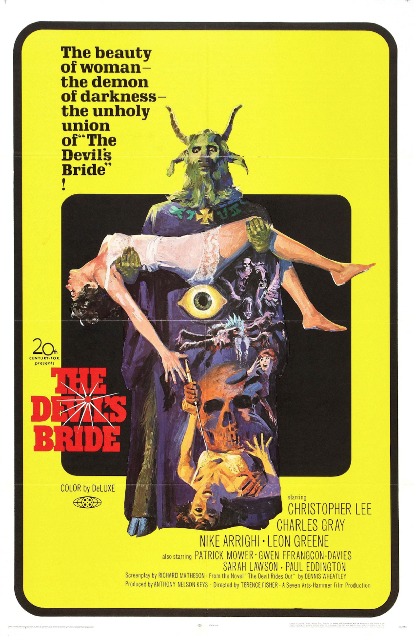Poster for The Devil Rides Out (aka The Devil's Bride)