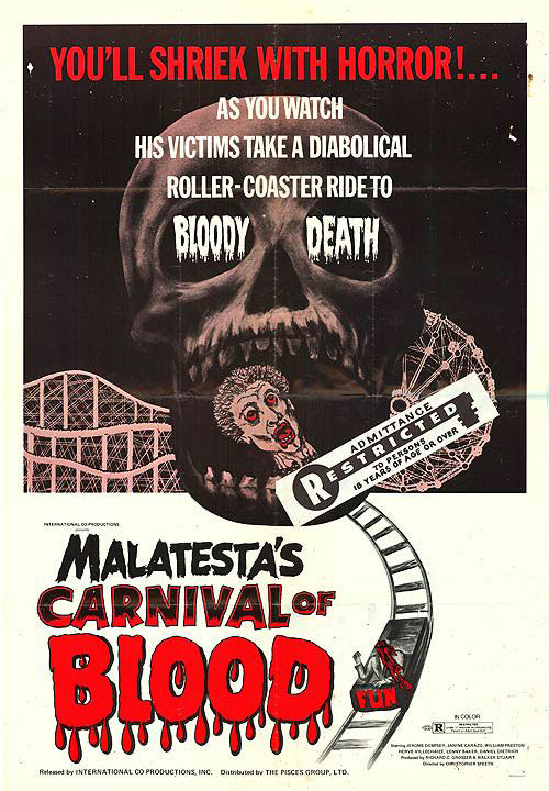 Poster for Malatesta's Carnival of Blood