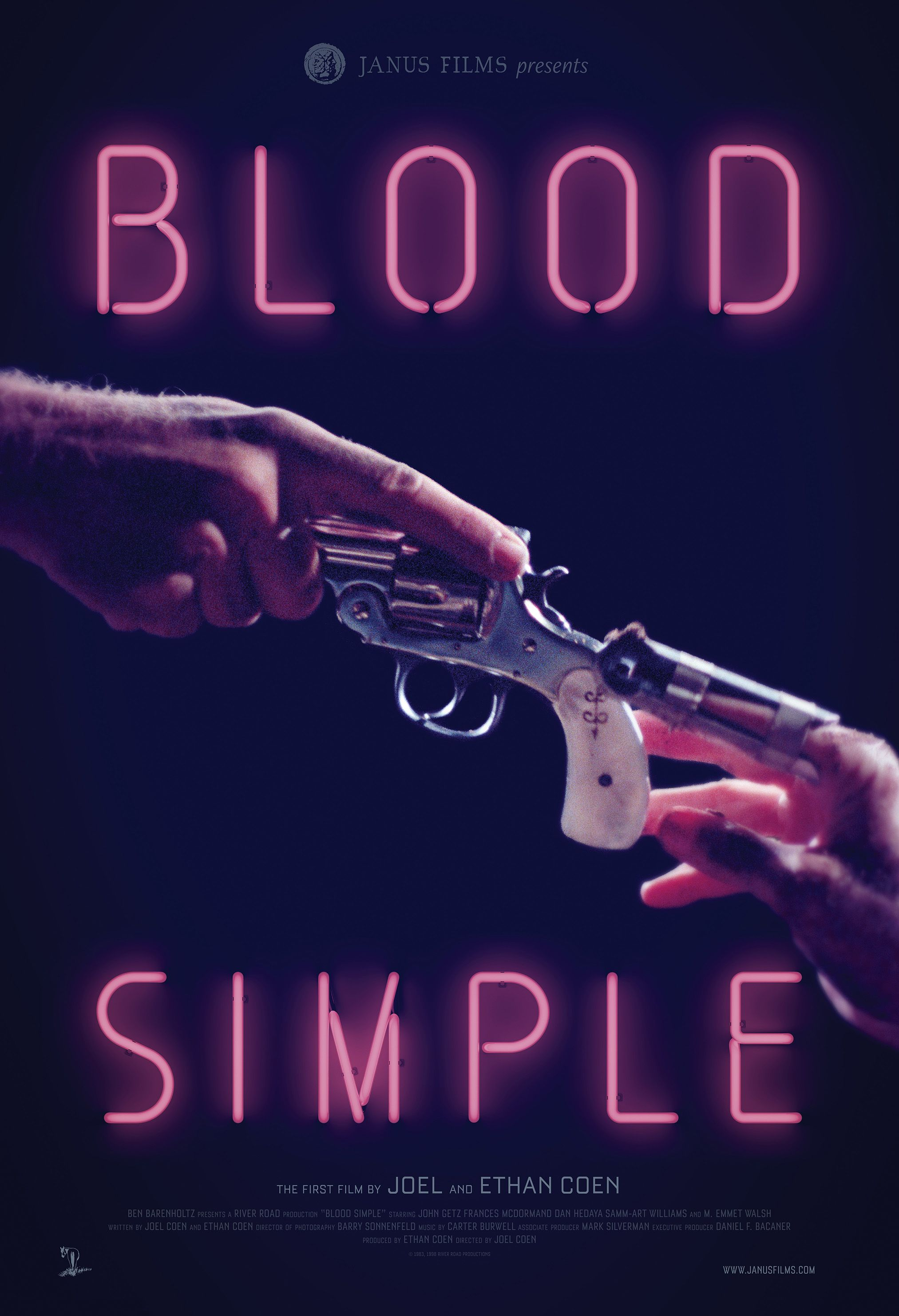 Poster for Everything is Stories w/ Blood Simple.