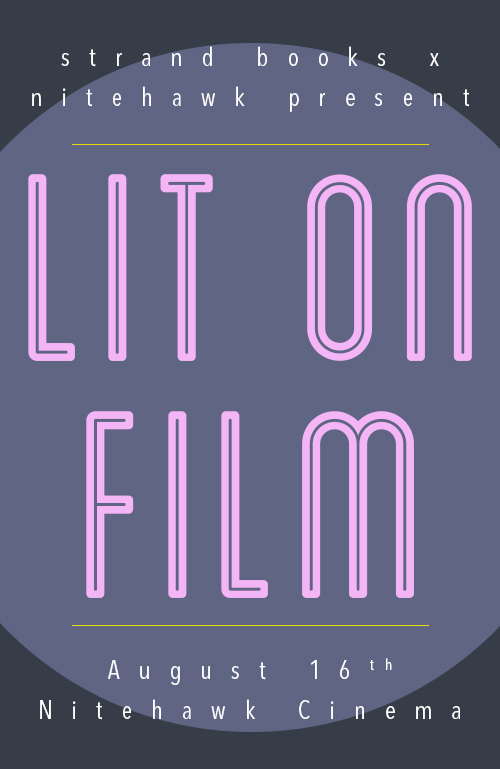 Poster for Lit on Film with Strand Book Store