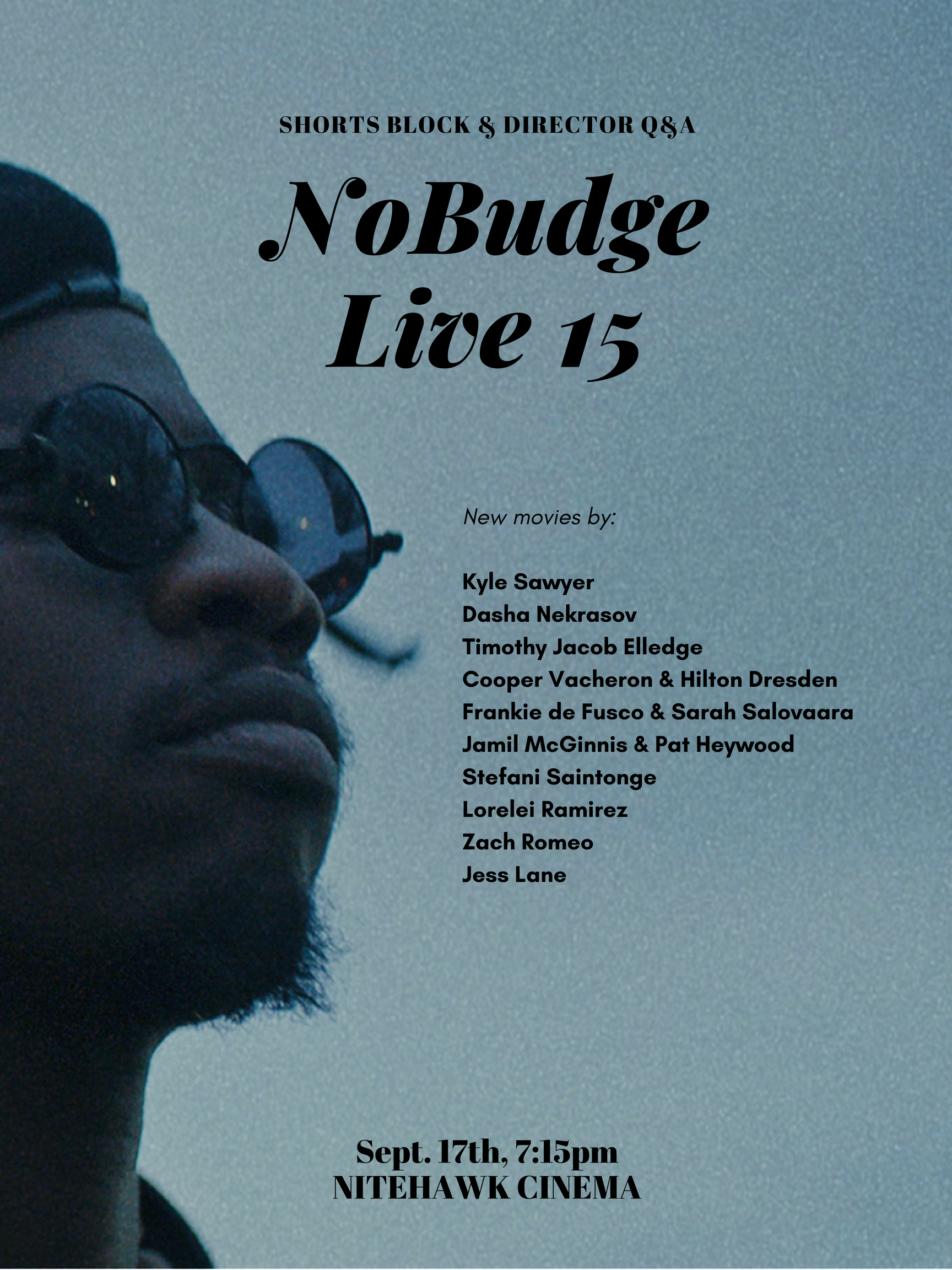 Poster for NoBudge Live #15