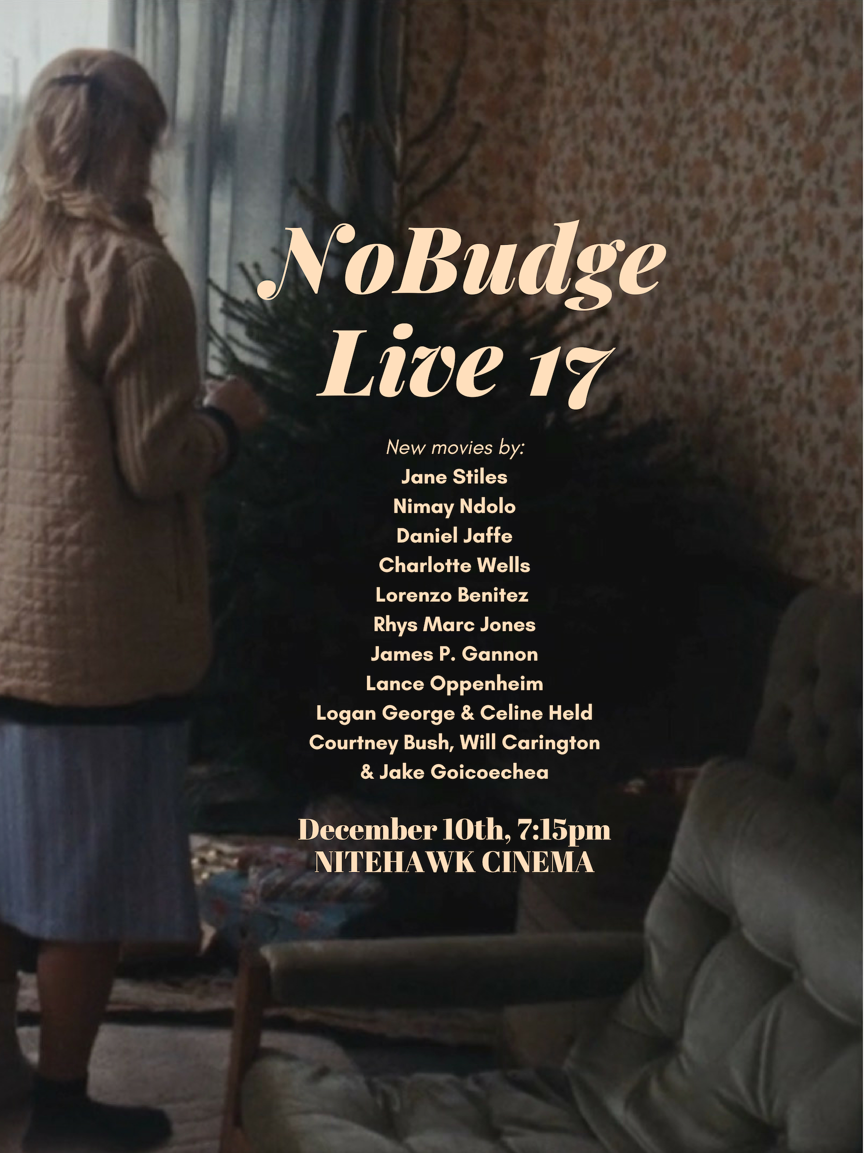 Poster for NoBudge Live #17: Holiday Edition