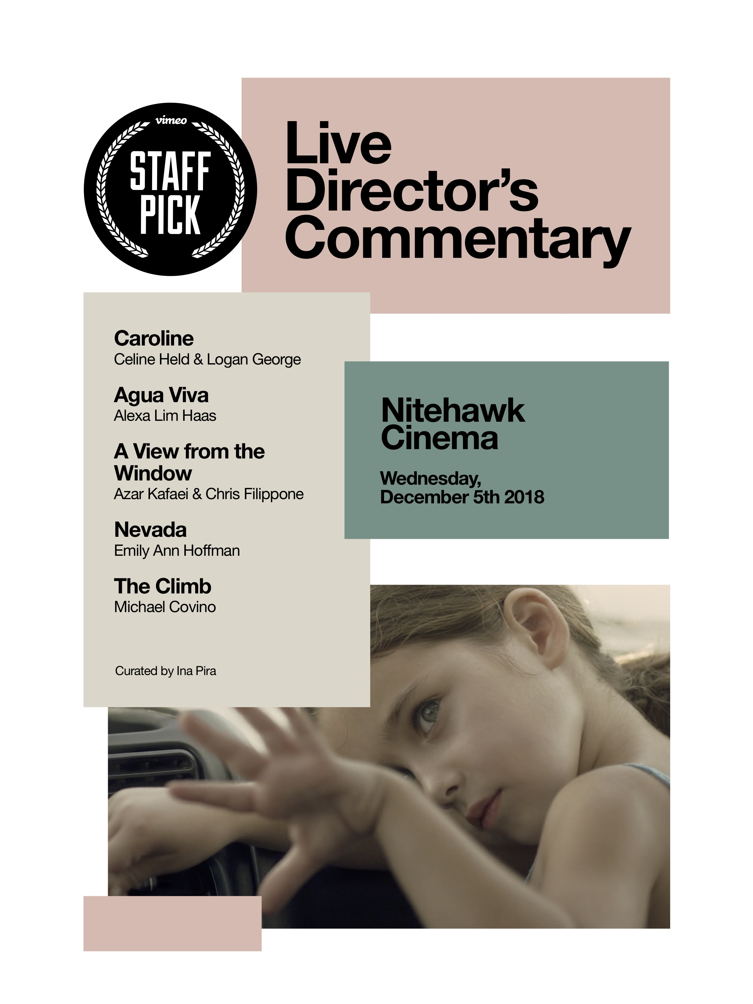 Poster for Vimeo Staff Picks with Live Director's Commentary