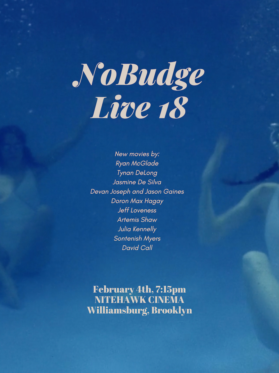 Poster for NoBudge Live #18