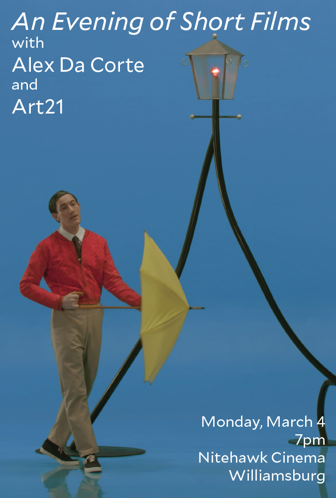 Poster for An Evening of Short Films with Alex Da Corte and Art21