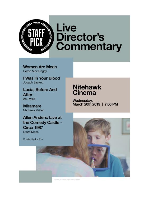 Poster for Vimeo Staff Picks with Live Director's Commentary #2