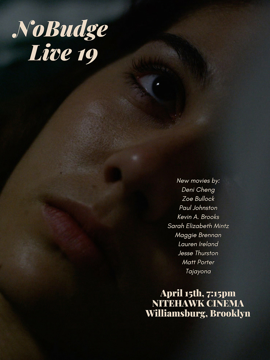 Poster for NoBudge Live #19