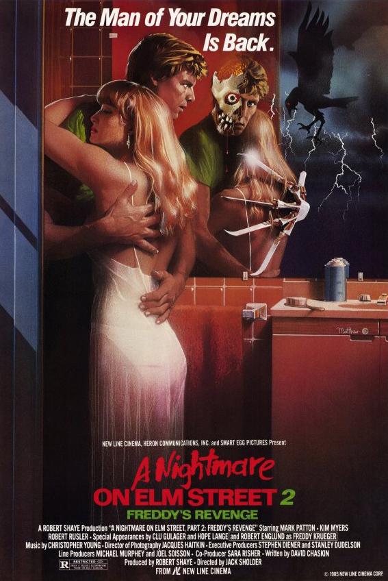 Poster for A Nightmare on Elm Street 2: Freddy's Revenge