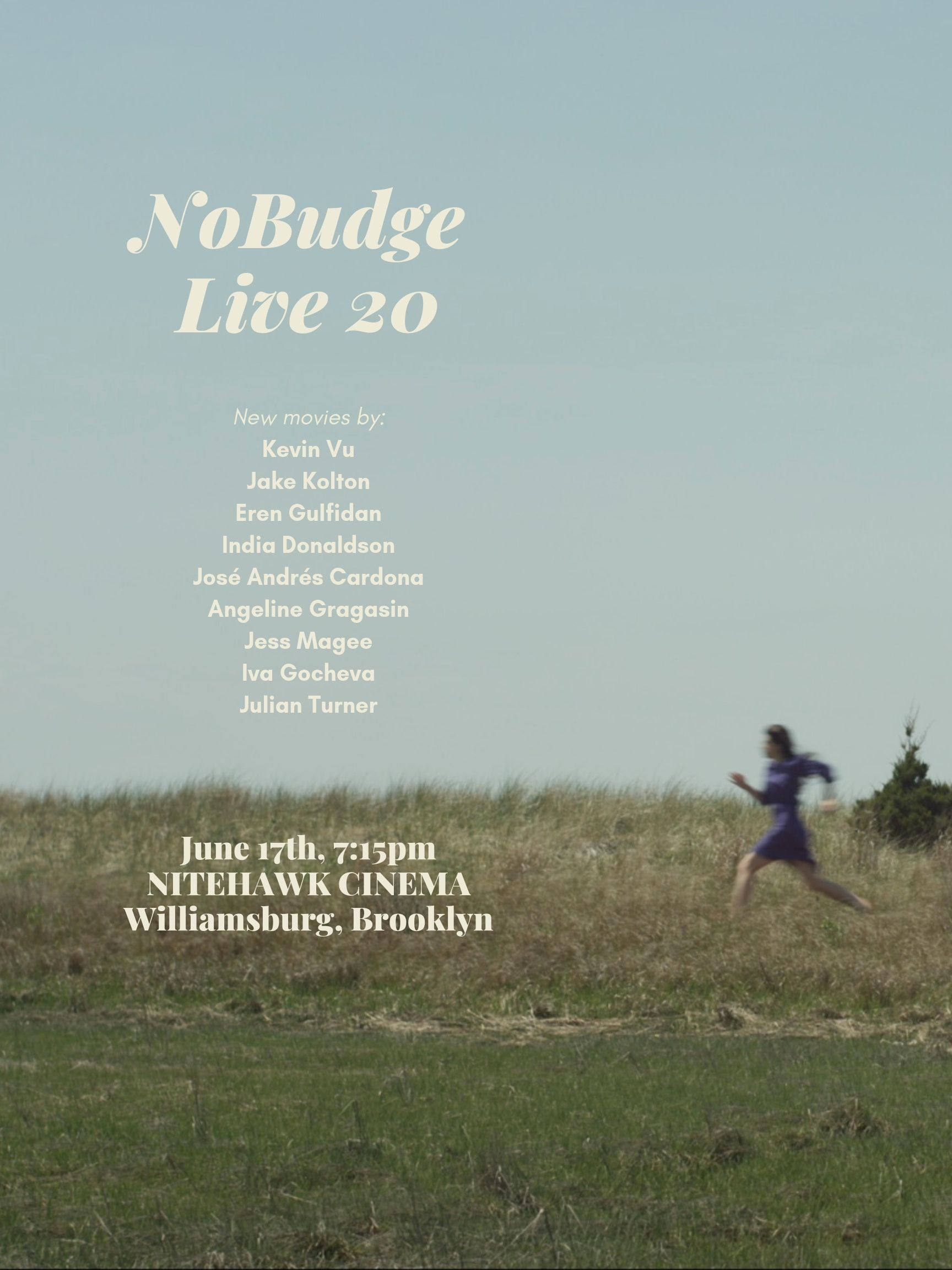 Poster for NoBudge Live #20