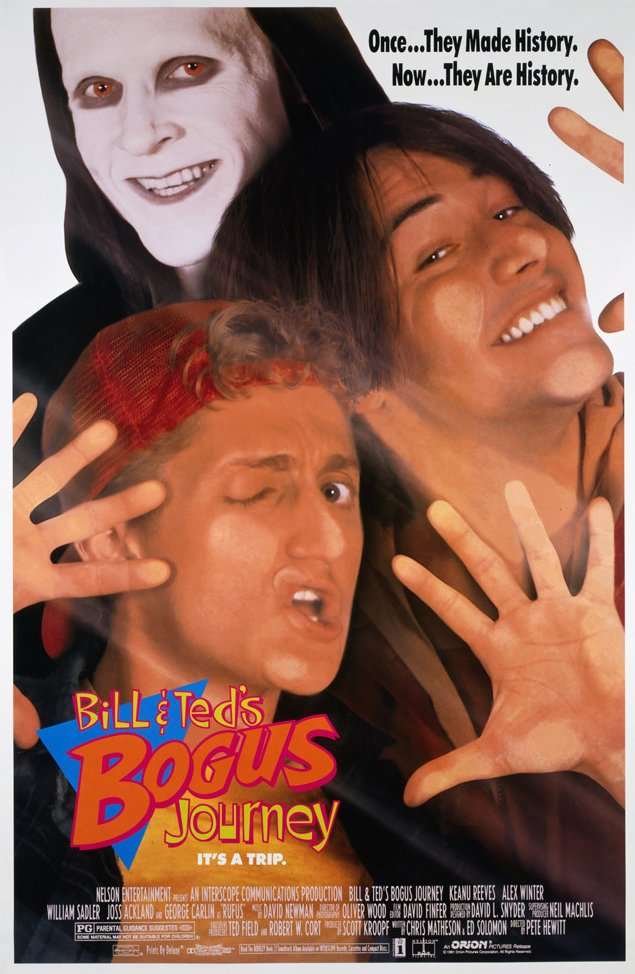 Poster for Bill & Ted's Bogus Journey