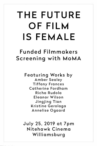 Poster for The Future of Film is Female presented with MoMA