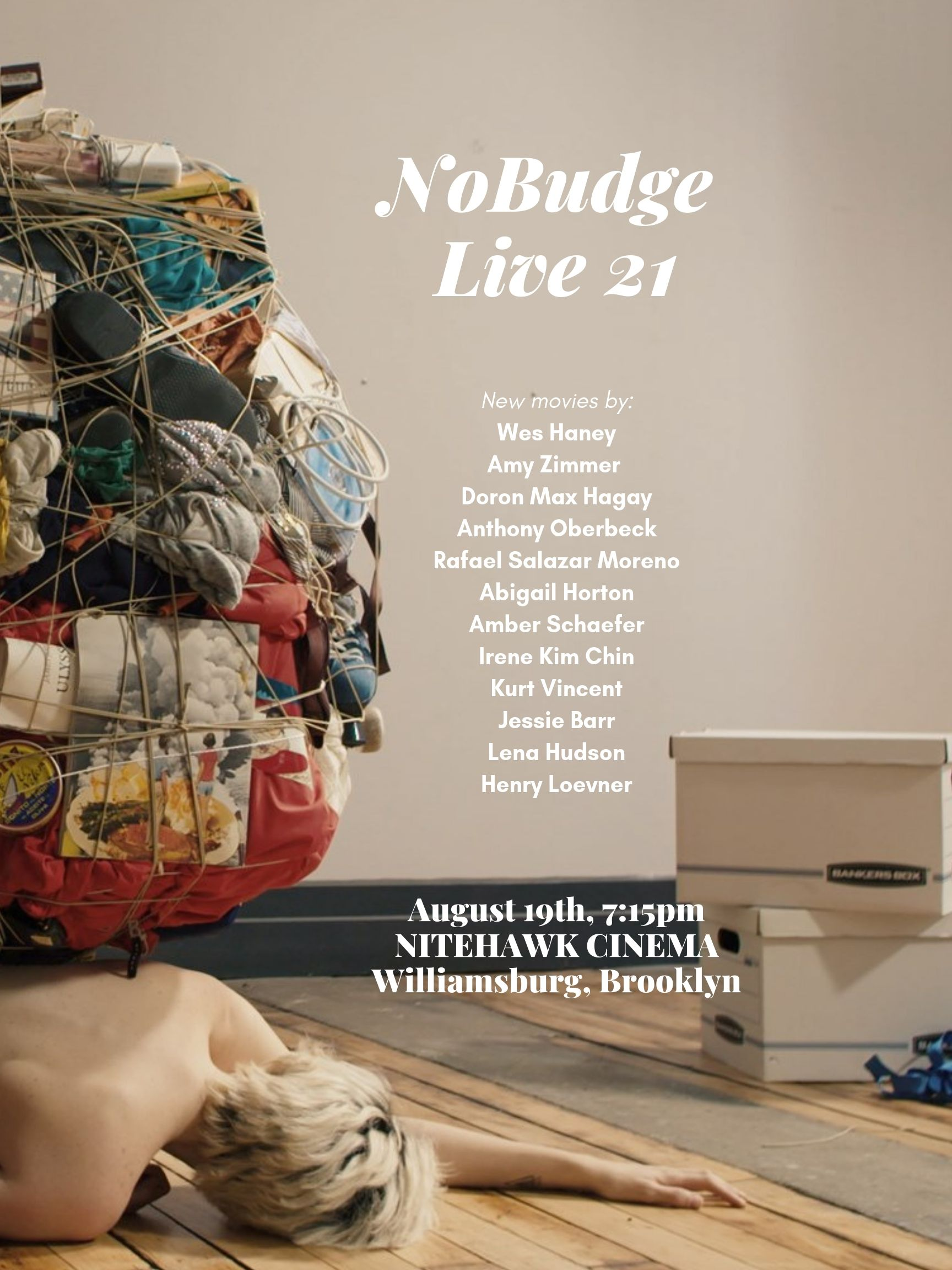 Poster for NoBudge Live #21