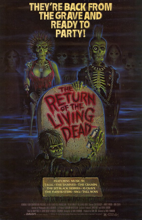 Poster for The Return of the Living Dead