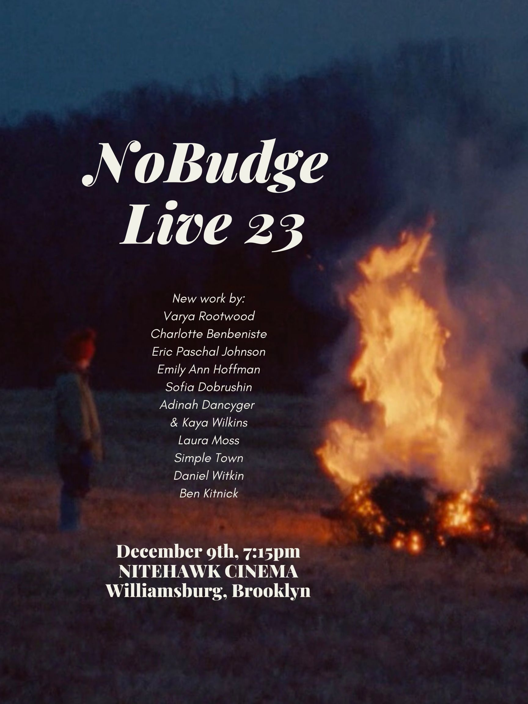 Poster for NoBudge Live #23