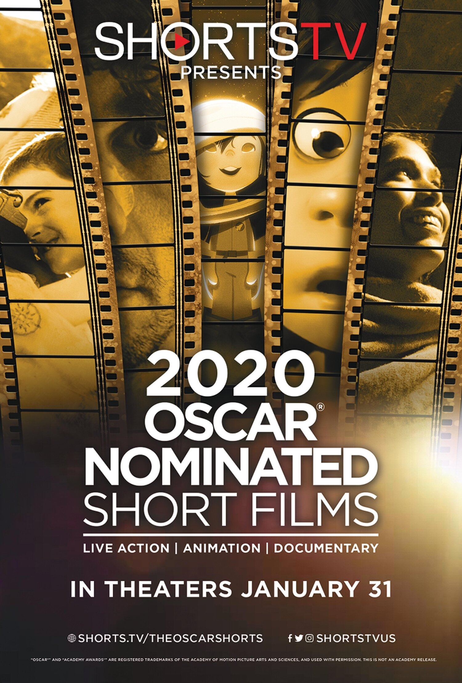 Poster for 2020 Oscar Nominated Live Action Shorts