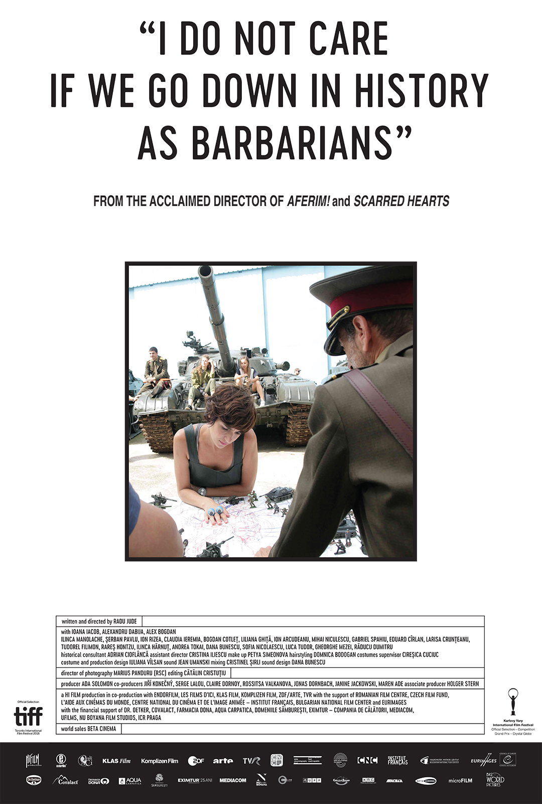 Poster for I DO NOT CARE IF WE GO DOWN IN HISTORY AS BARBARIANS