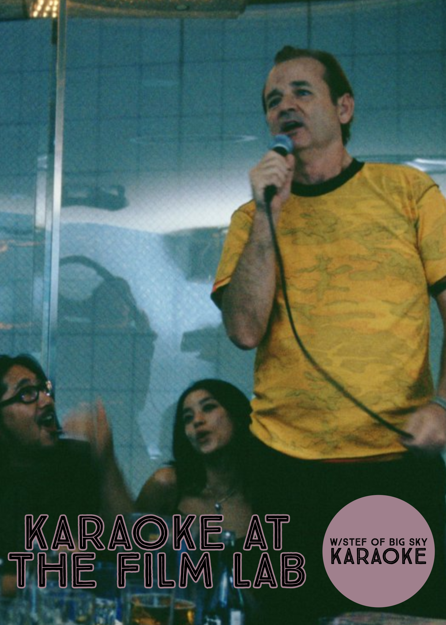Poster for Karaoke at The Film Lab