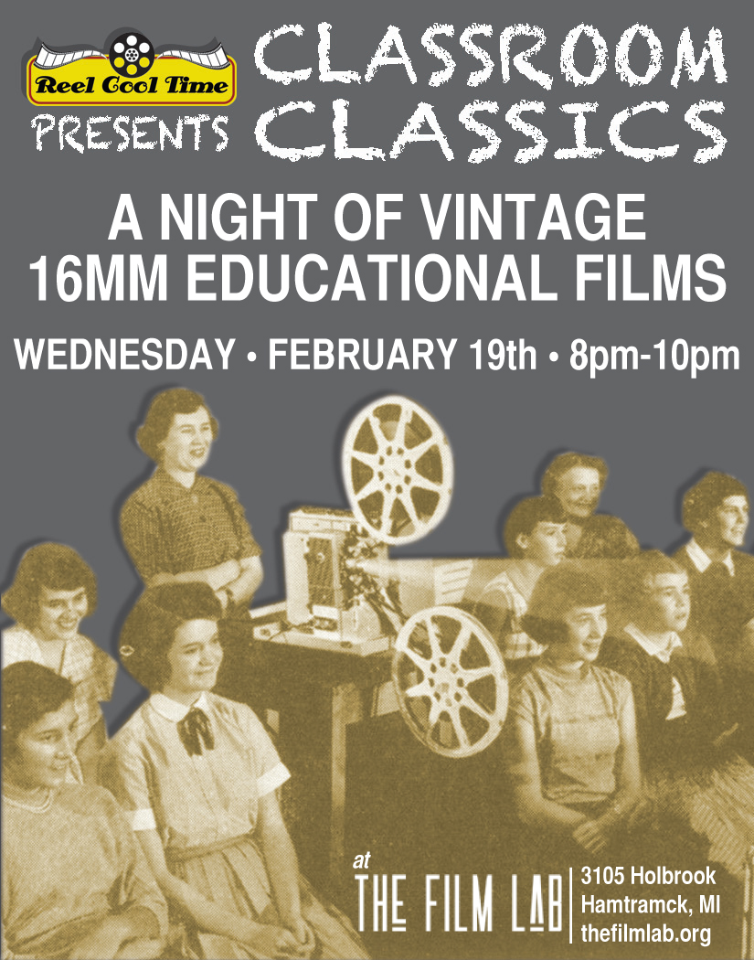 Poster for Classroom Classics on 16mm!