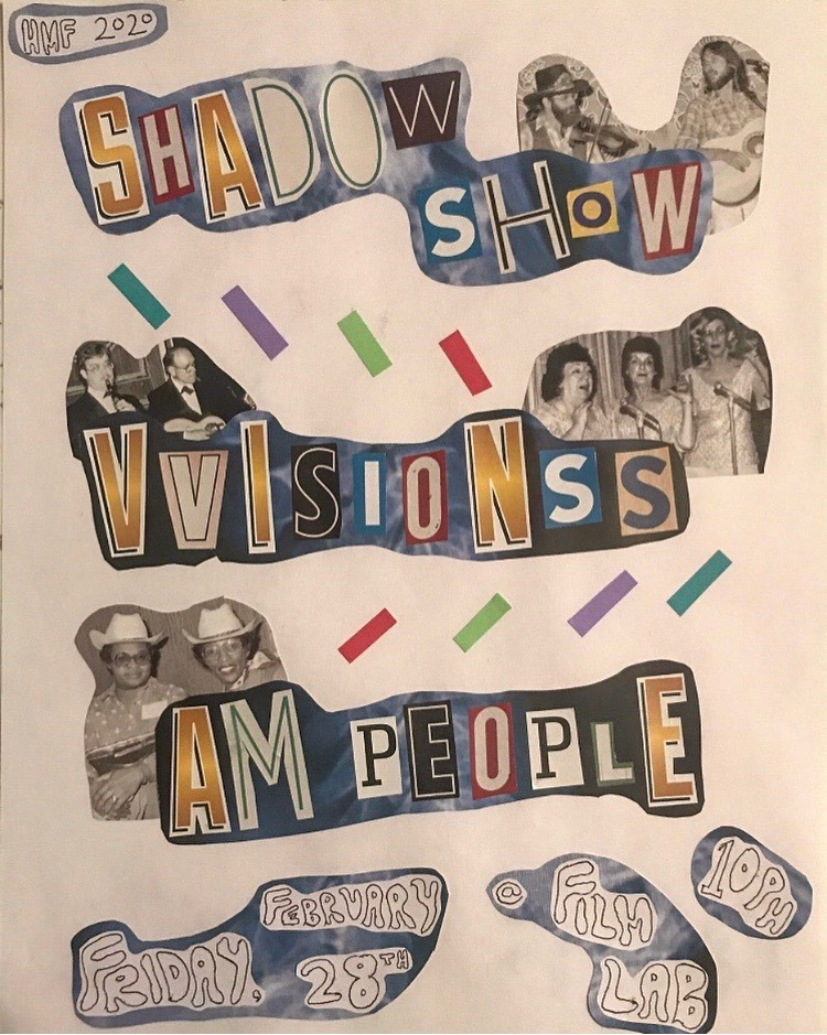 Poster for Hamtramck Music Fest: Shadow Show/VVISIONSS/AM People
