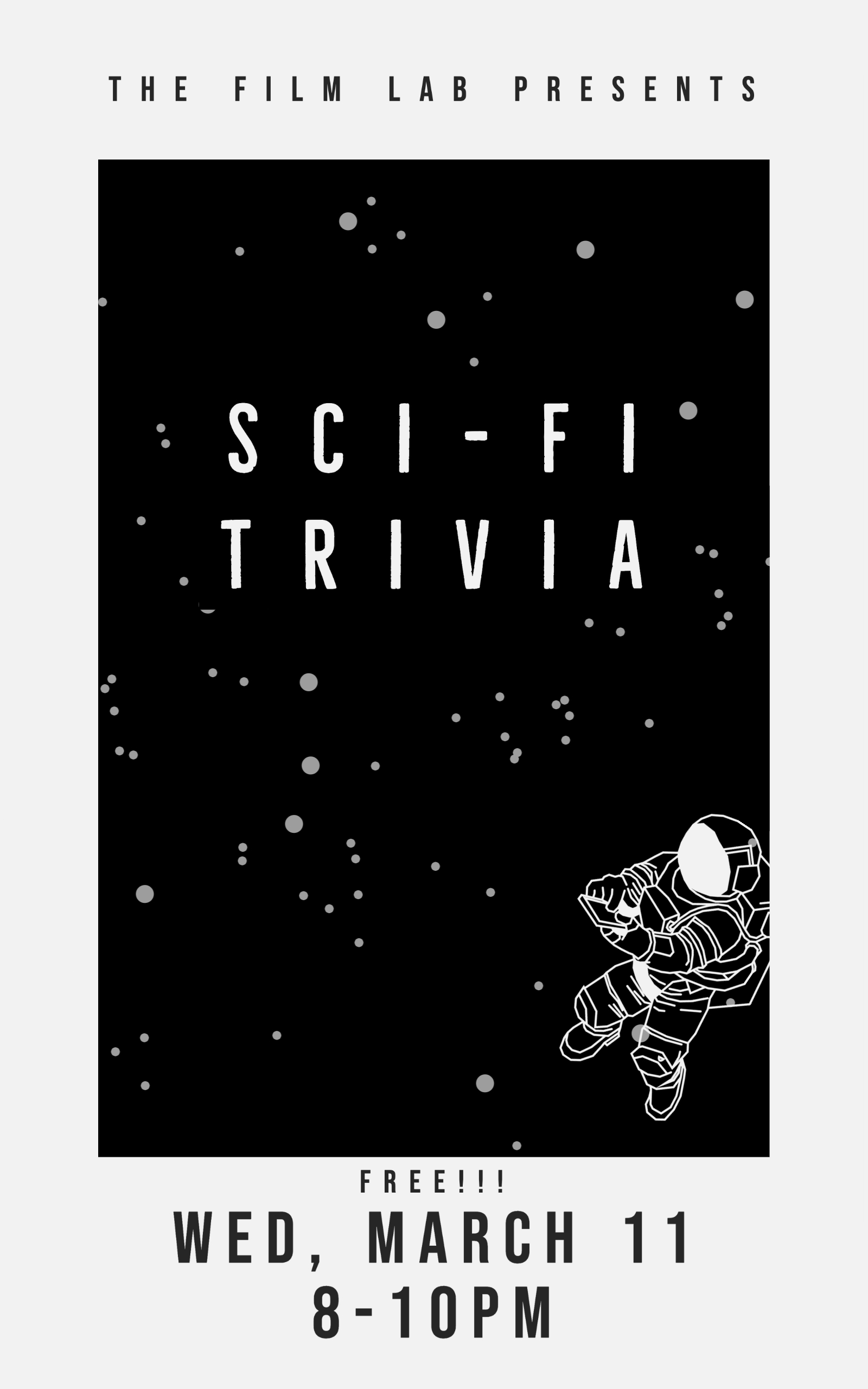 Poster for Science Fiction Trivia