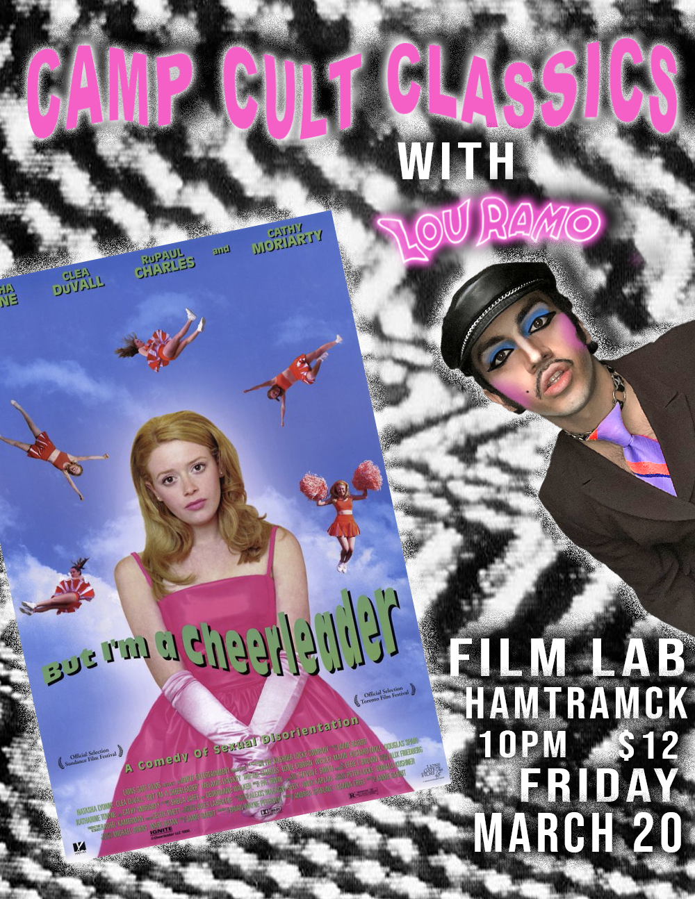 Poster for Camp Cult Classics with Lou Ramo: BUT I'M A CHEERLEADER