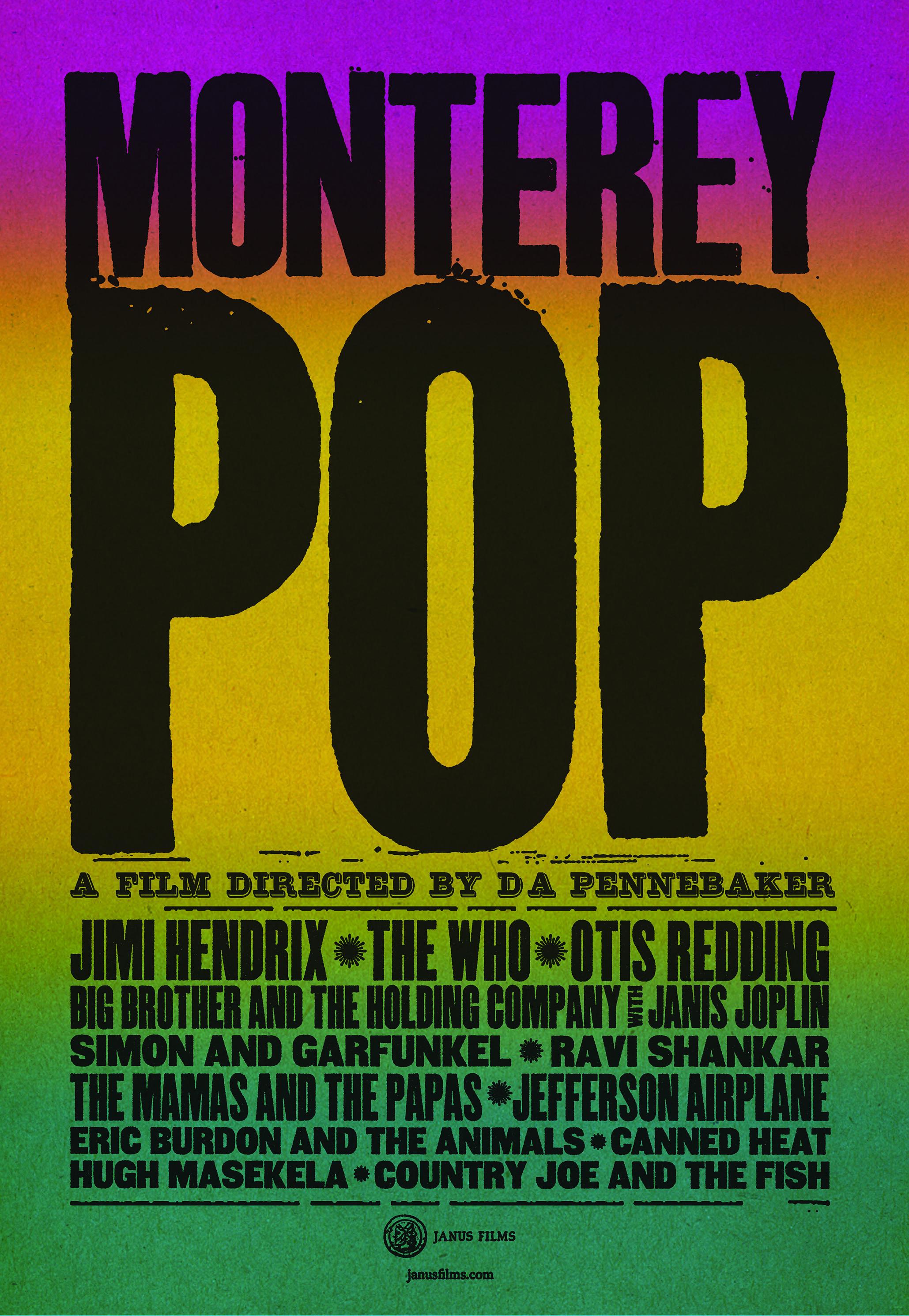 Poster for Monterey Pop