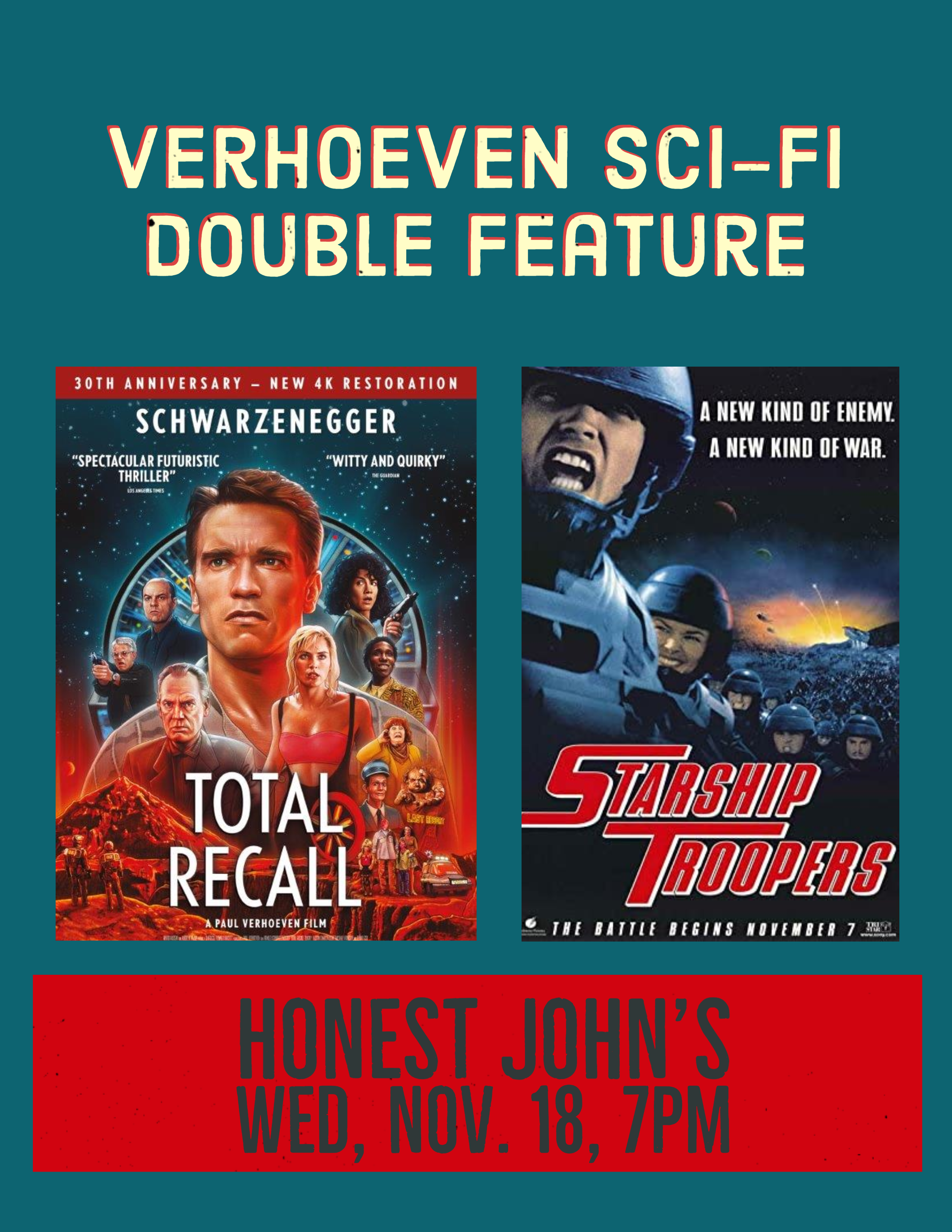 Poster for Verhoeven Double Feature