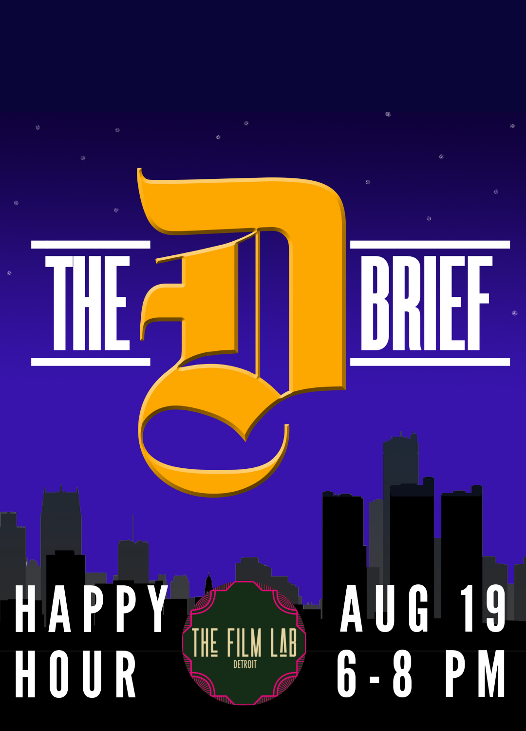 Poster for The D Brief Happy Hour