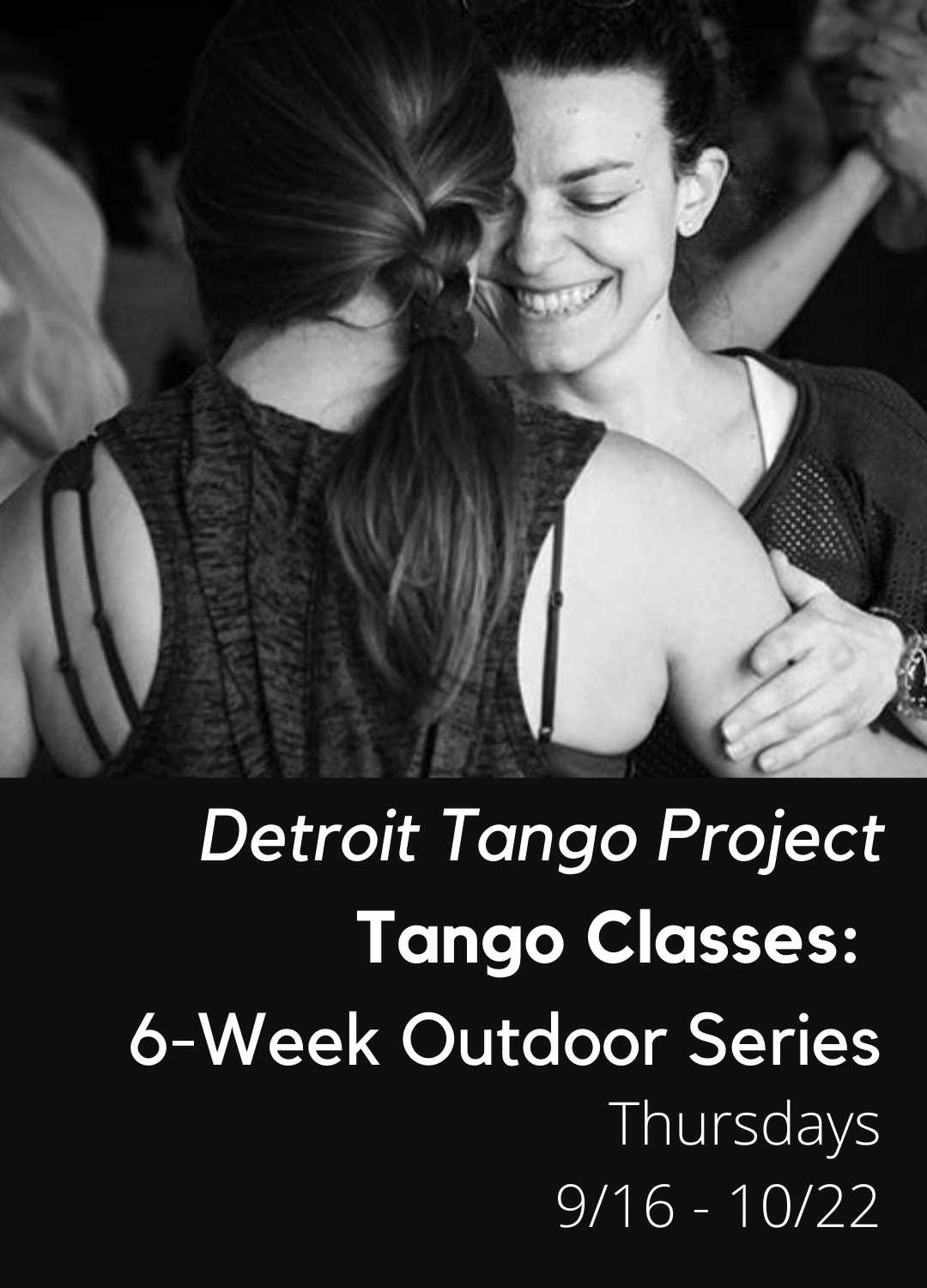 Poster for Detroit Tango Project Six-Week Tango Series