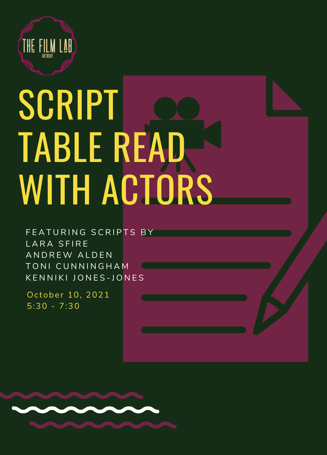 Poster for Script Table Read with Actors