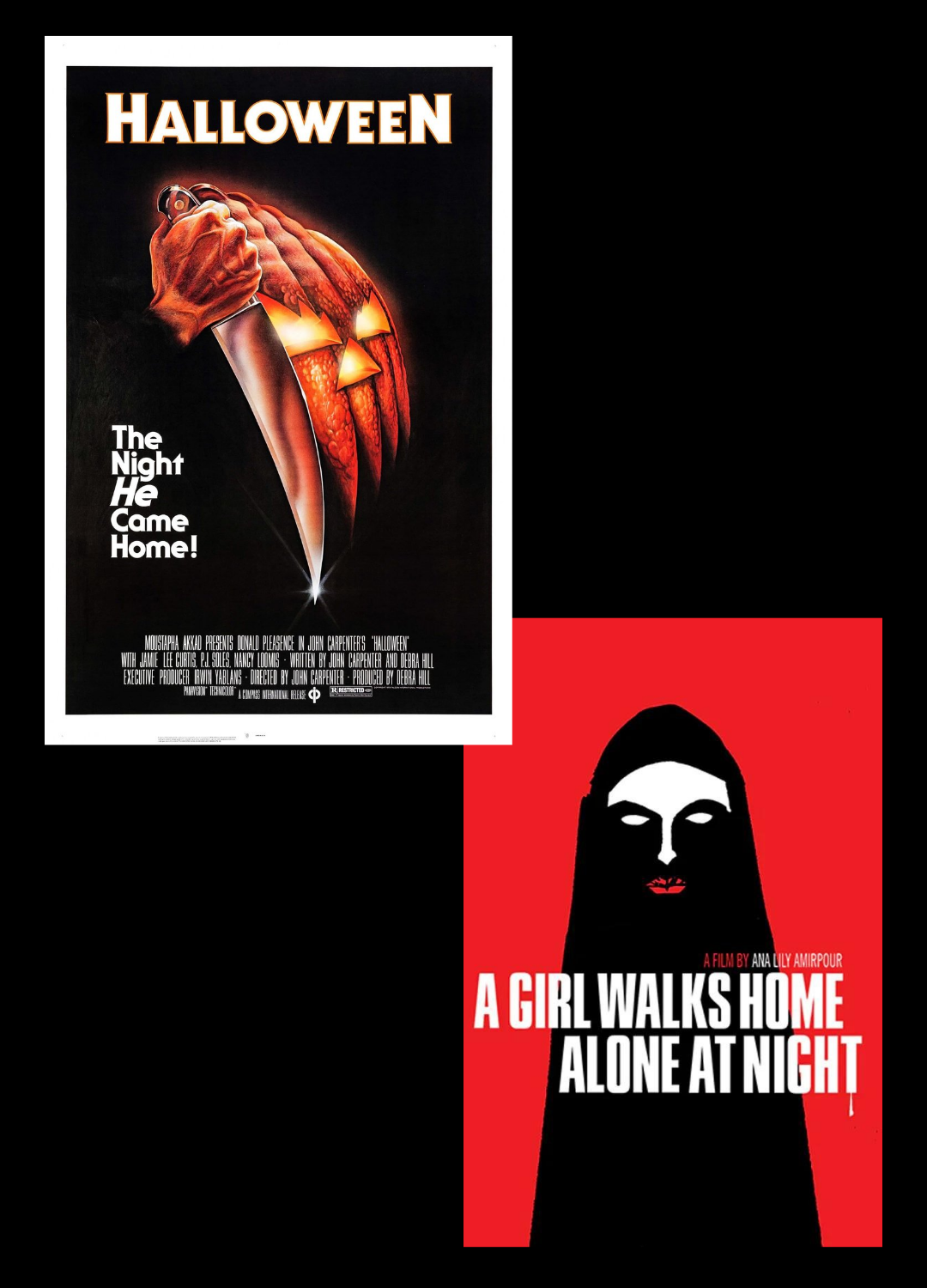 Poster for Double Feature: Halloween & A Girl Walks Home Alone at Night