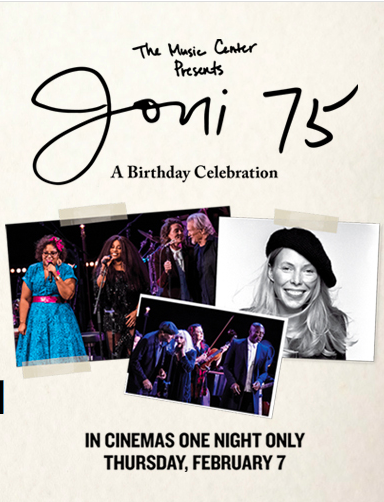 Poster for The Music Center Presents Joni 75: A Birthday Celebration