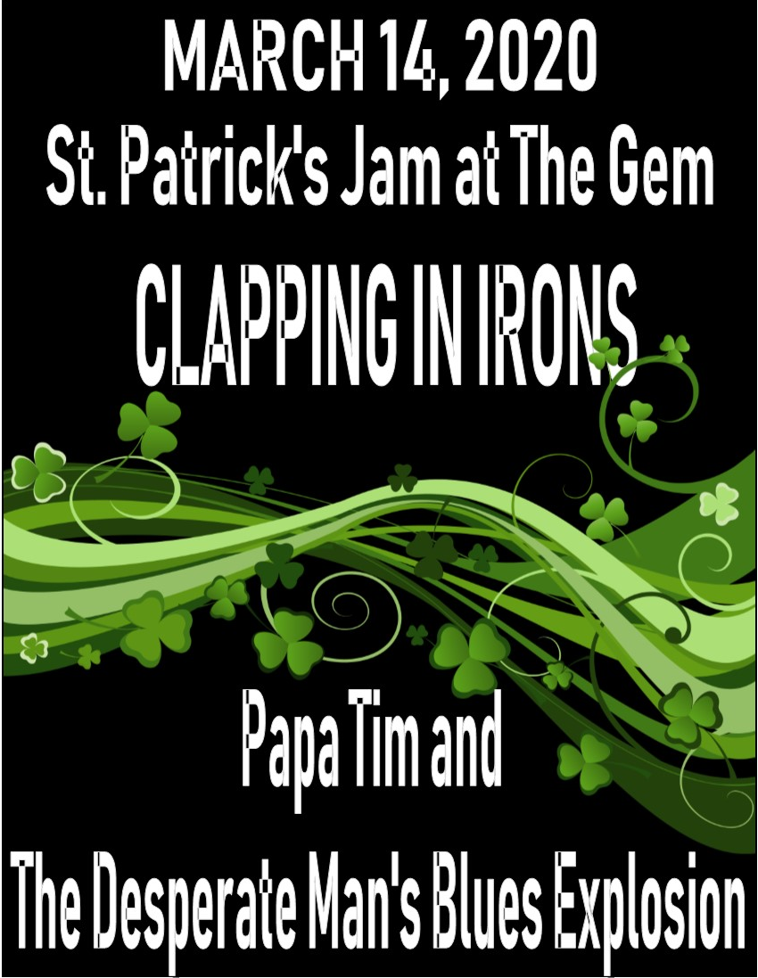Poster for St. Patrick's Jam at The Gem