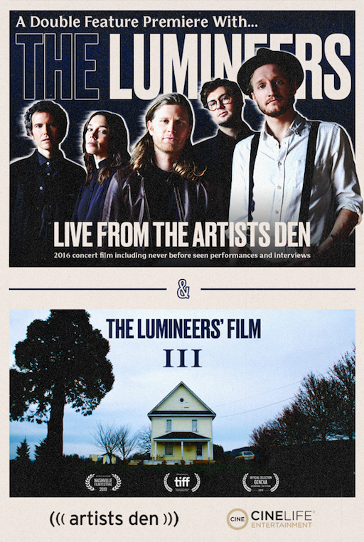 Poster for The Lumineers: Live from the Artists Den