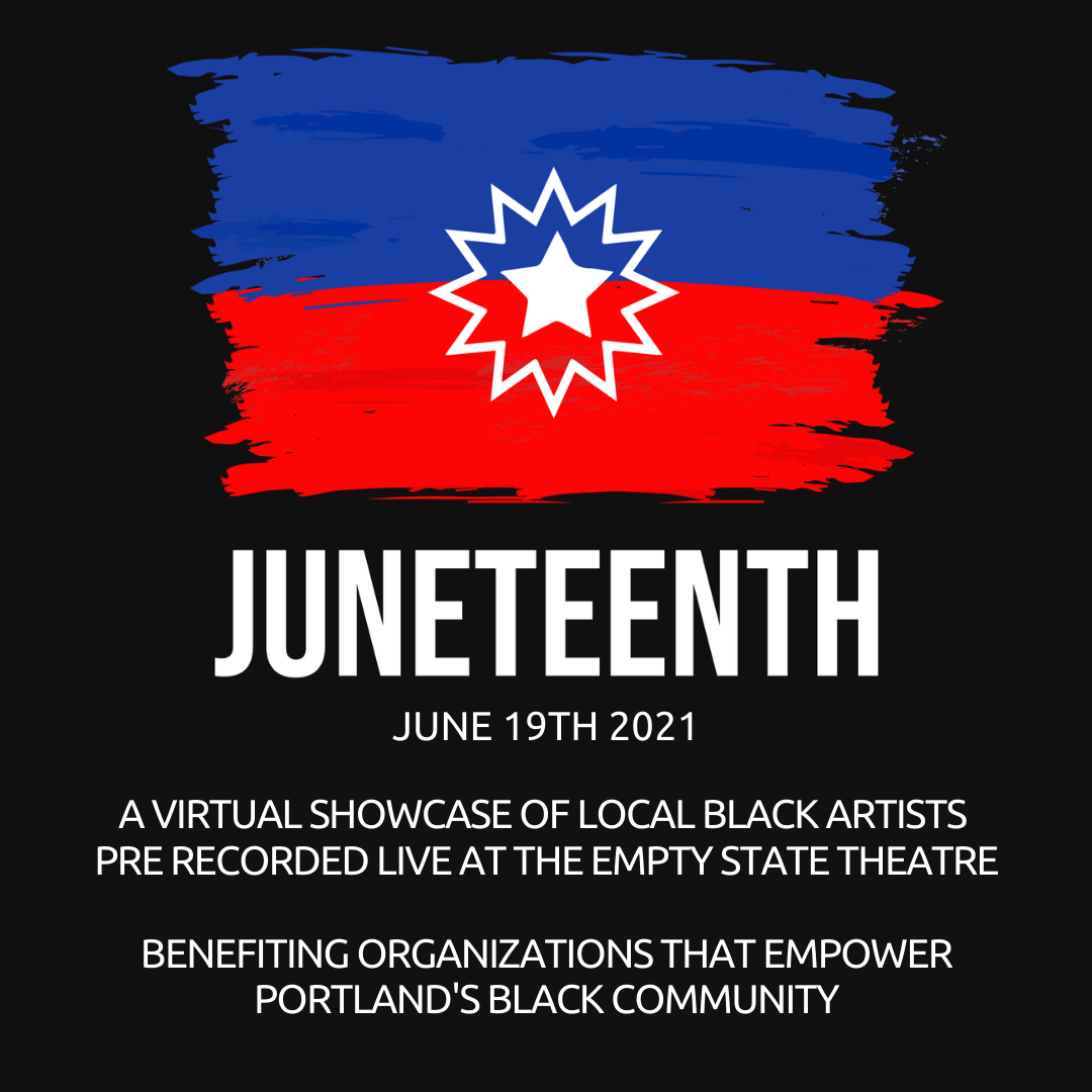 Poster for Juneteenth! with Janaesound, Mosart212, Ali Ali, and Rodney Mashia