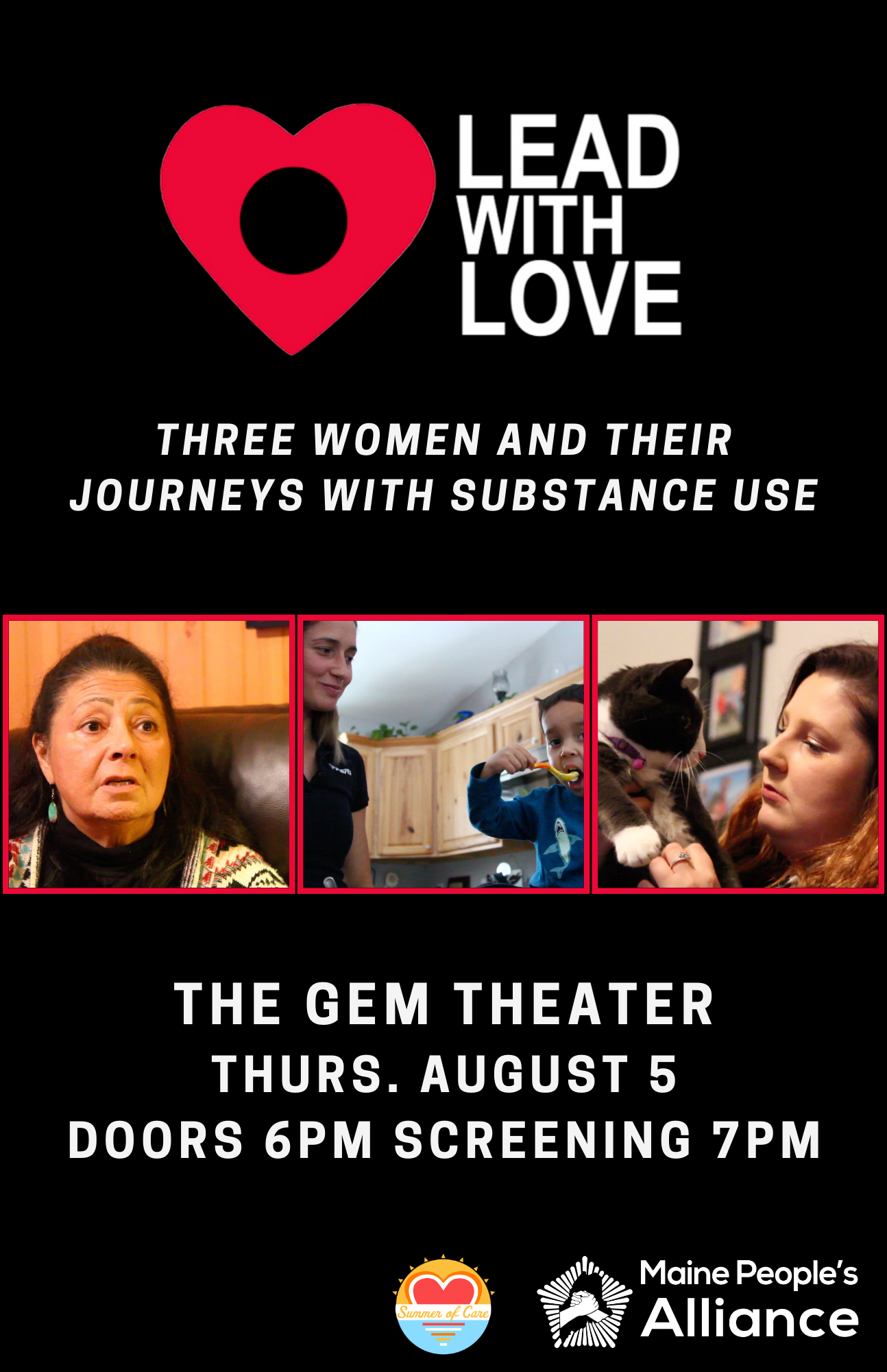 Poster for Lead with Love (Social Hour at 6pm. Community Conversation will follow the film.)