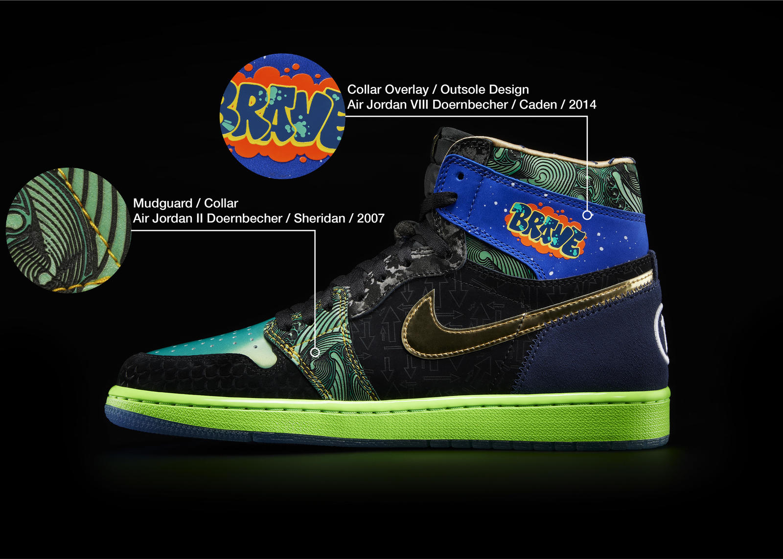 Nike Doernbecher Freestyle 2021 Air Jordan I What The Official Images Release Date 0