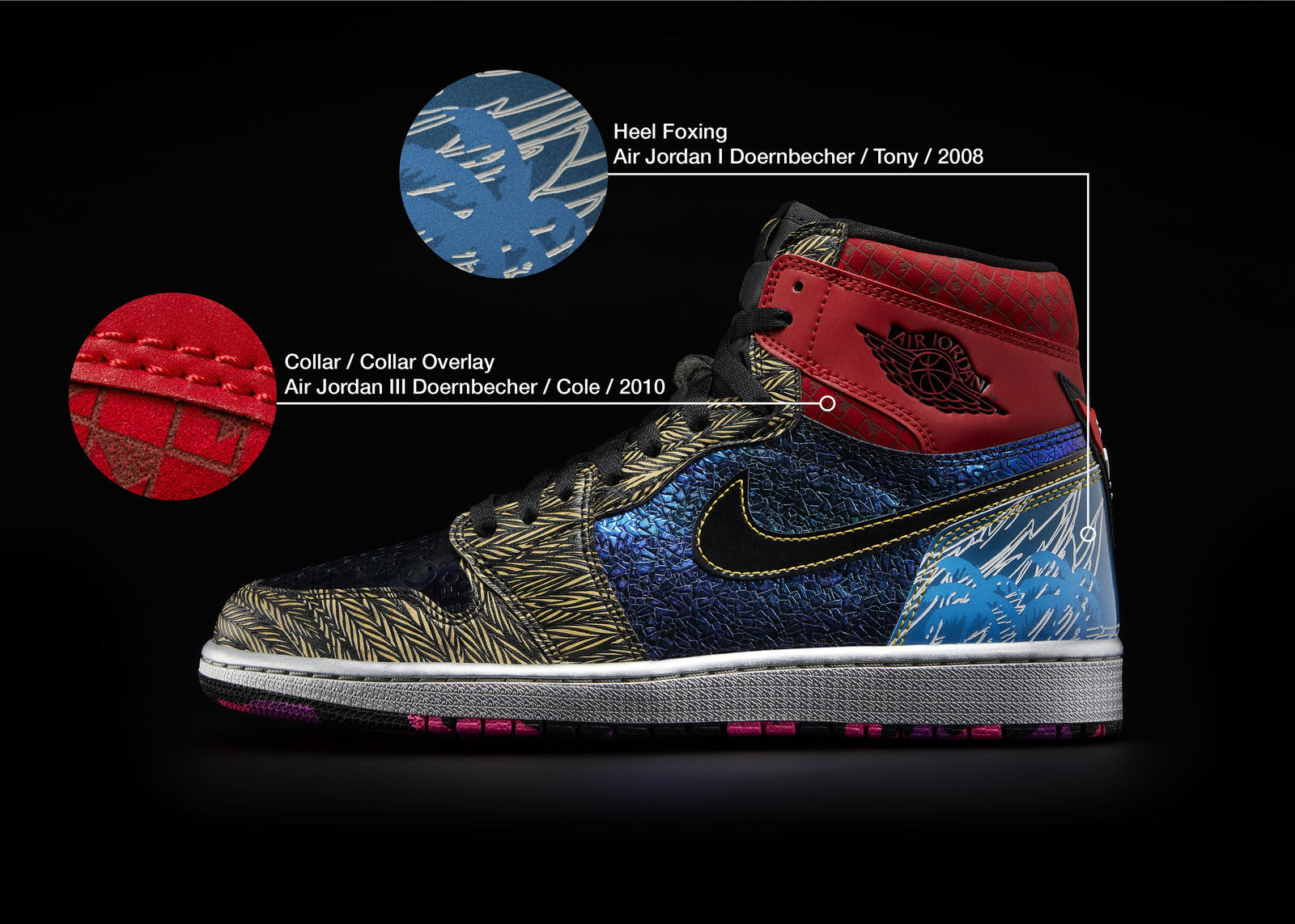 Nike Doernbecher Freestyle 2021 Air Jordan I What The Official Images Release Date 3