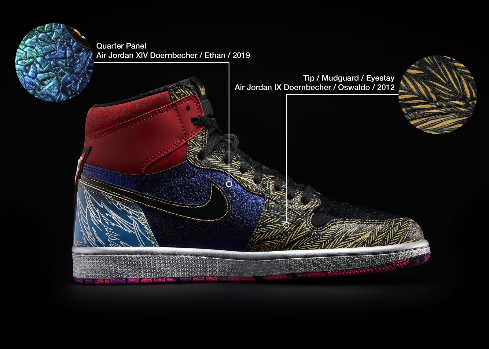 Nike Doernbecher Freestyle 2021 Air Jordan I What The Official Images Release Date 5