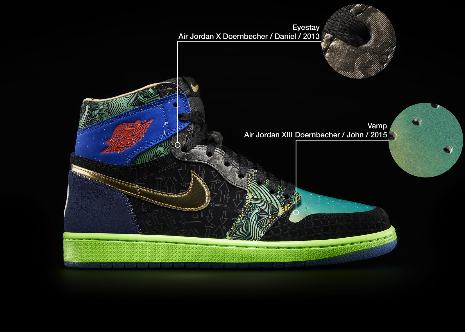Nike Doernbecher Freestyle 2021 Air Jordan I What The Official Images Release Date 8