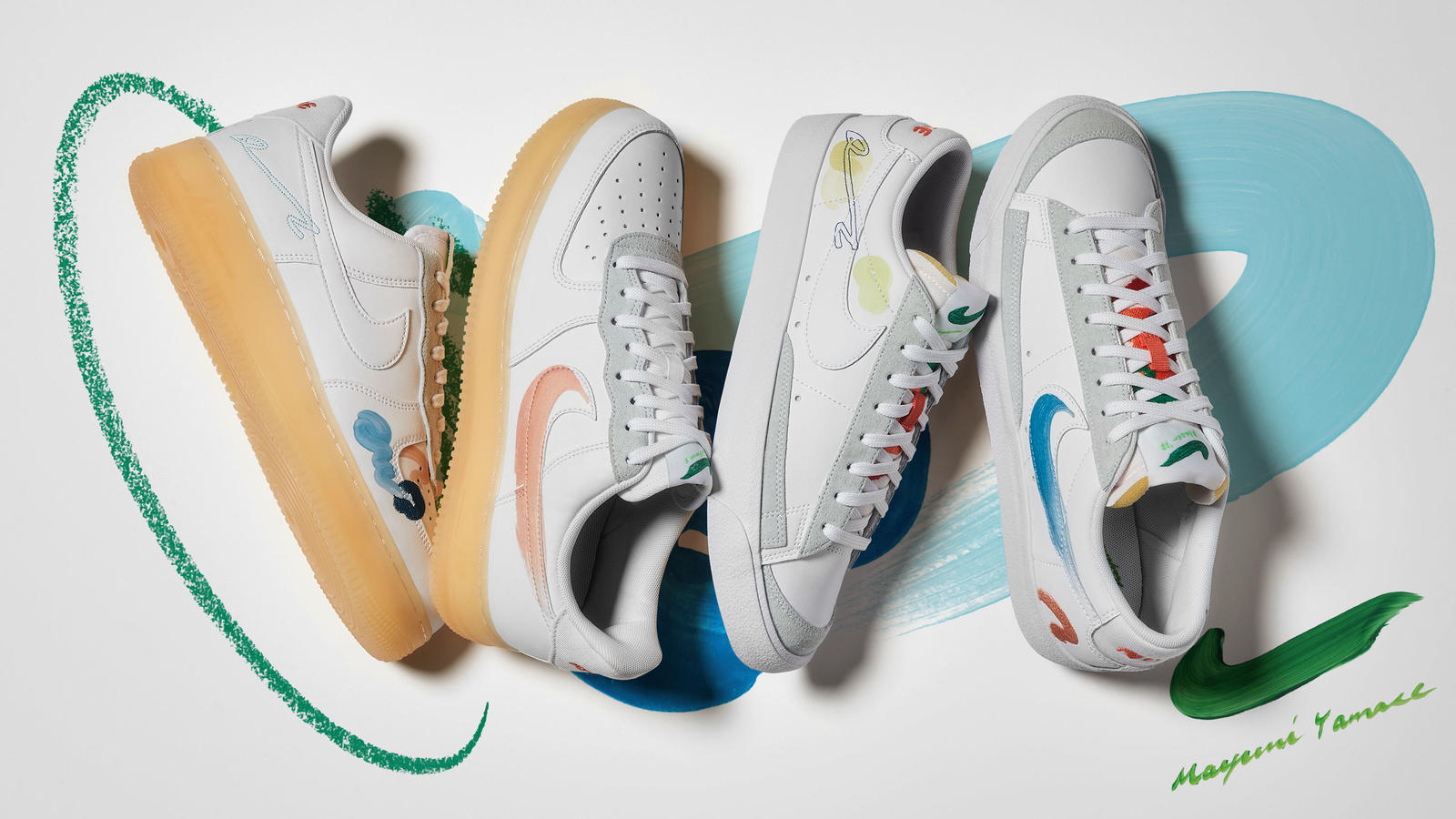 Nike Flyleather Collection Summer 2021 Air Force 1 Blazer Low Official Images Release Date 0