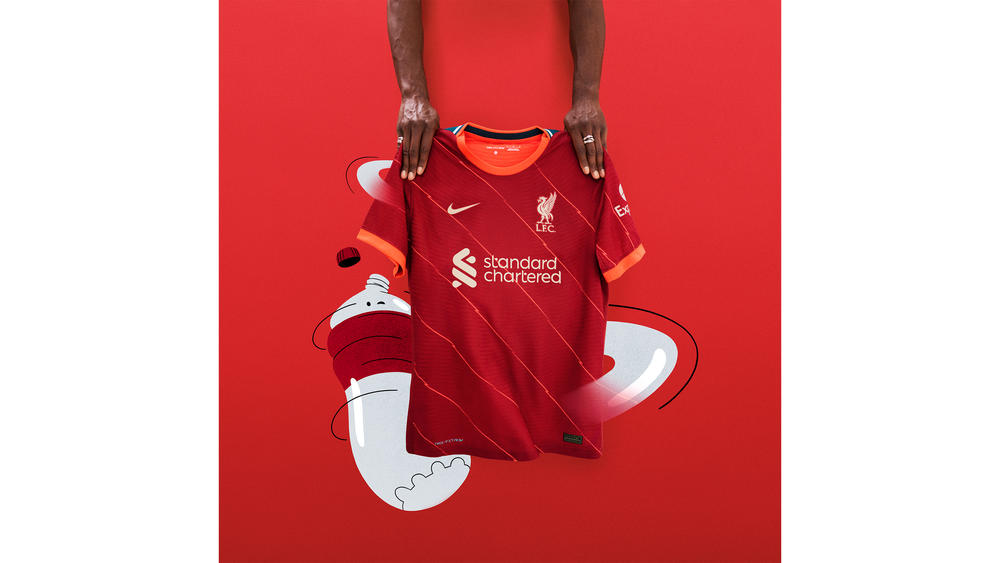 Power is Personified in Liverpool FC's 2021-22 Home Kit