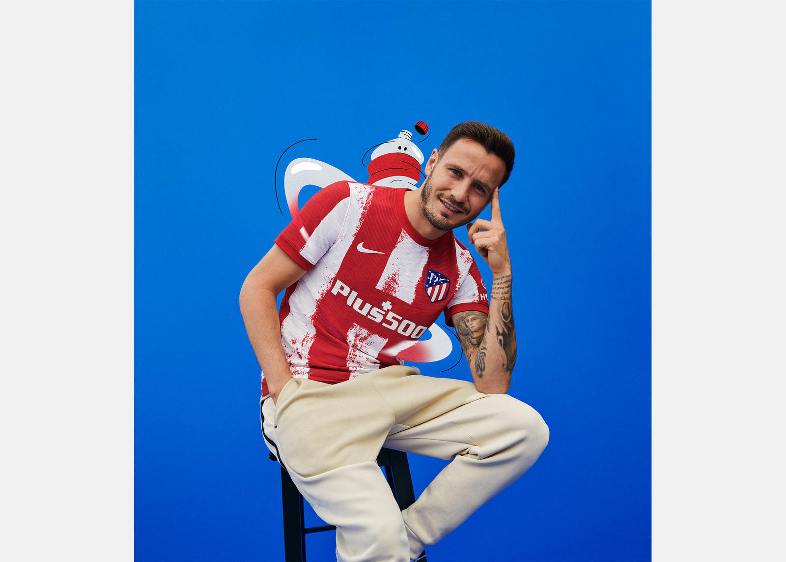 Atlético de Madrid 2021-22 Home Kit 2