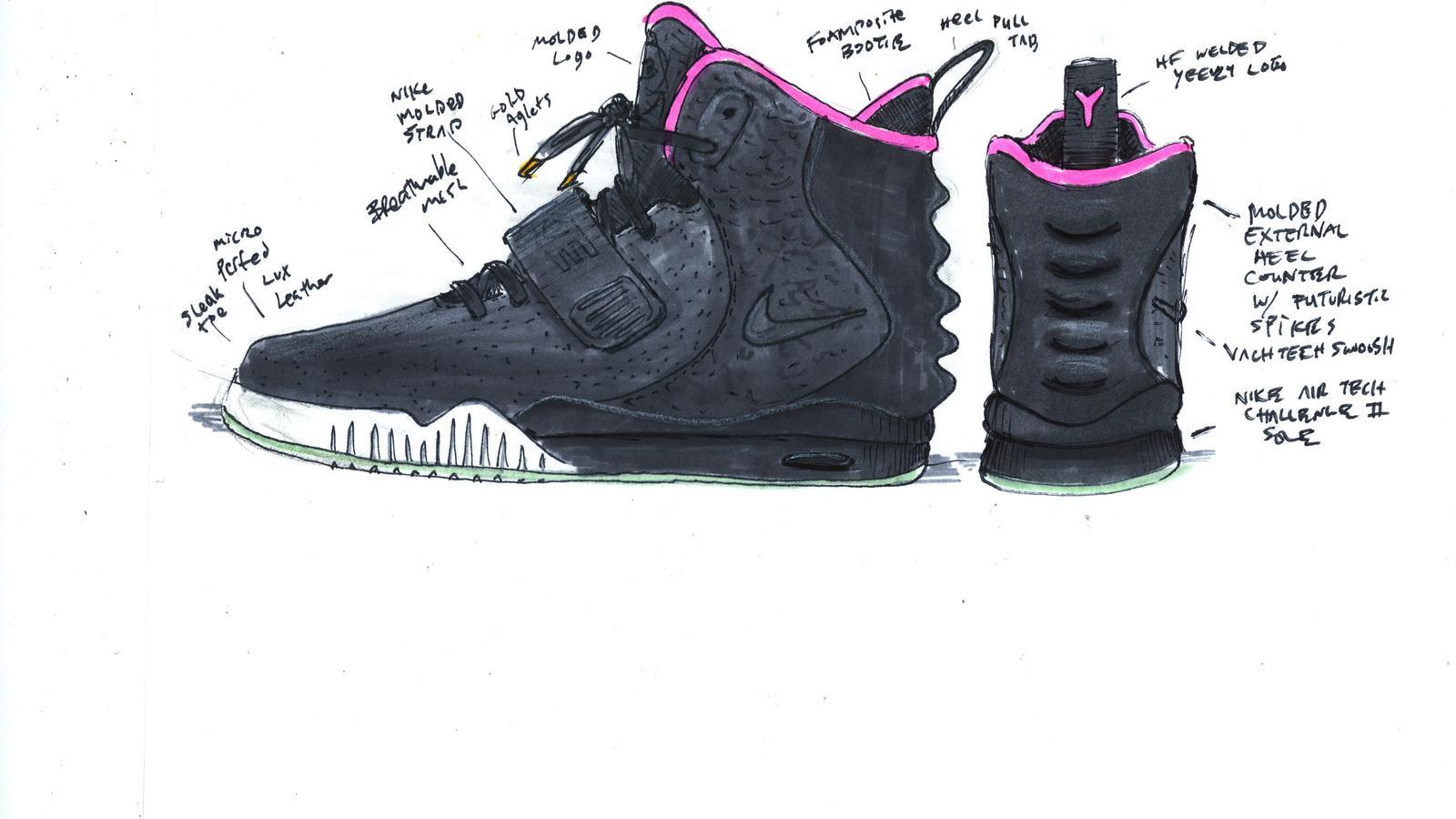 eca09793ba57 Nike Air Yeezy II Sketch. Nike Air Yeezy II Back.  Nike Air Yeezy II Detail 3. Nike Air Yeezy II Detail 4.  Nike Air Yeezy II Detail